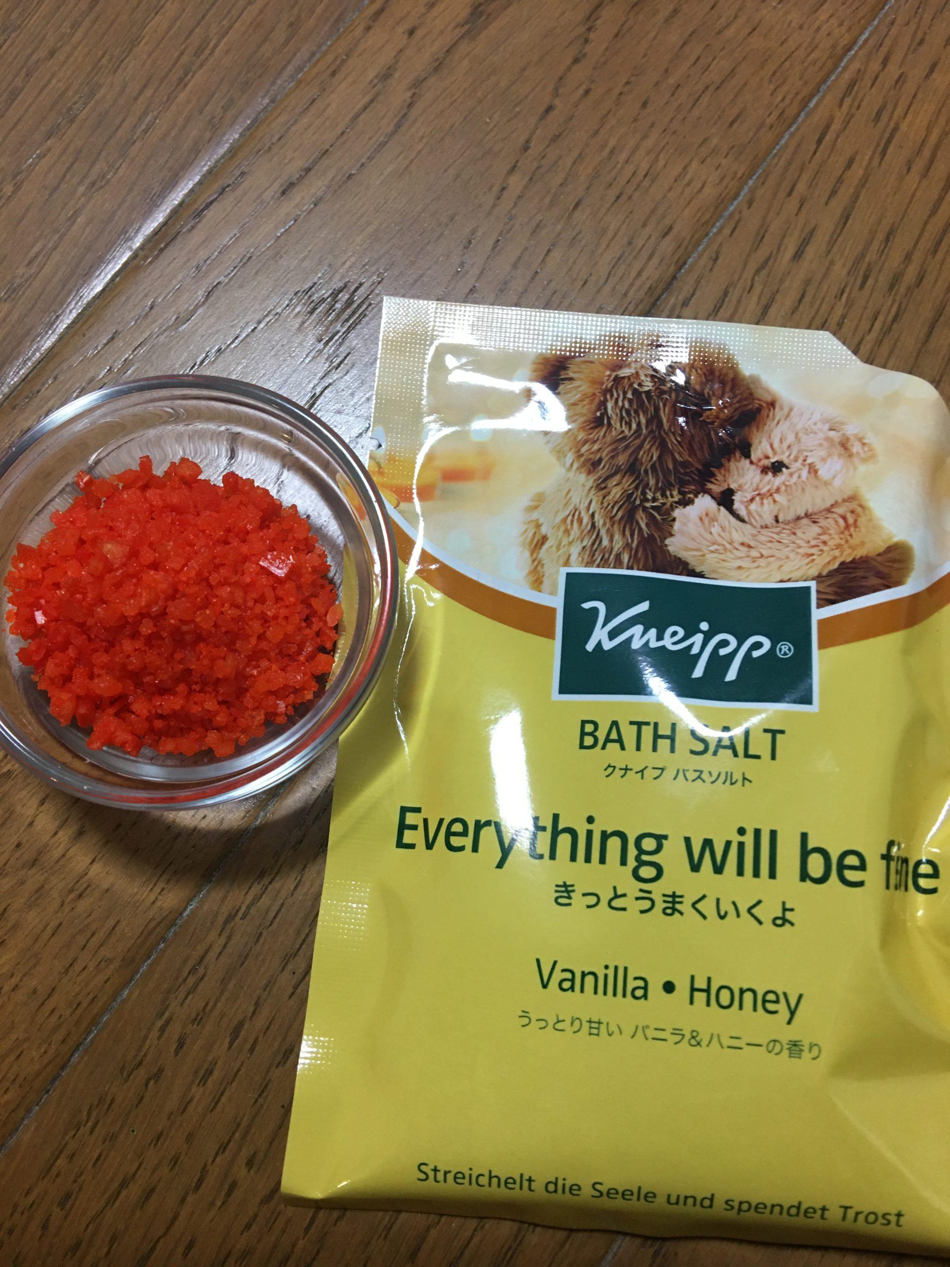 【クナイプバスソルト】バニラ&ハニーの香り/レビュー